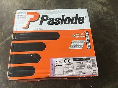 Paslode 51mm (x2.8mm) ring galv plus nails with gas