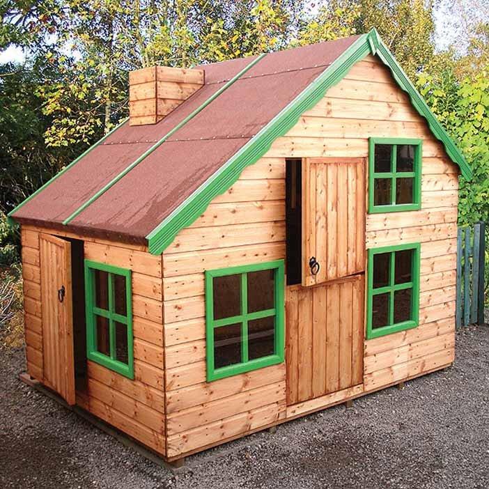 Malvern playhouse weavo fencing products ltd for Children s garden sheds