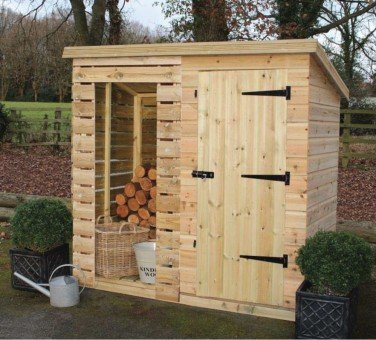 Malvern Log Tidystore 6ft Log/3ft Tidy x 3ft