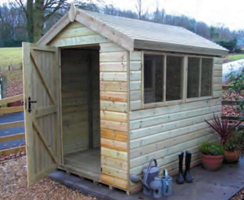 Malvern Heavy Duty Apex Shed 8ft x 6ft
