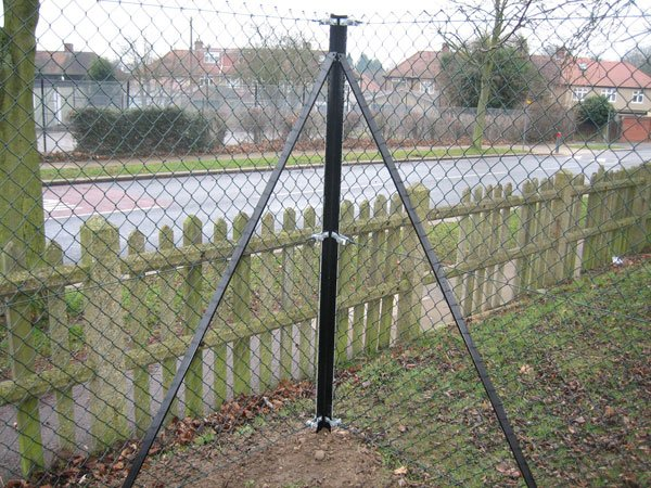 Angle iron post for chainlink weavo fencing products ltd